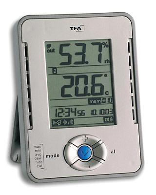 Digital Kombi Innen Thermometer Hygrometer  MinMax Fühler Kh