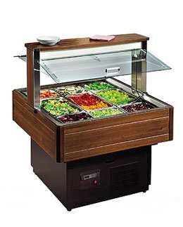 SQUARE REFRIGERATED SALAD BAR - Music Line