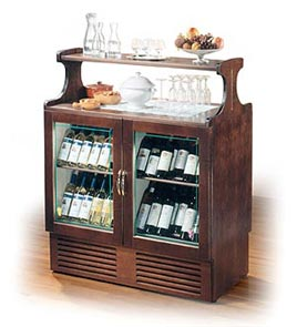 REFRIGERATED DISPLAY UNIT FOR RED & WHITE WINE - Wine Display Line